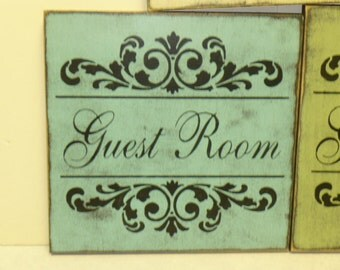 GUEST ROOM SIGN / guest room / guest house / guest sign / guest room decor / guest door sign / hand painted sign / wood guest sign / guest