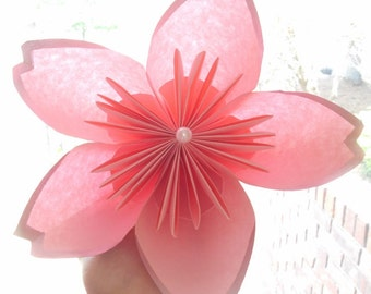 Large Origami Cherry Blossom Centerpiece Decoration