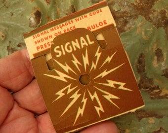 Vintage Morse Code Signals Card