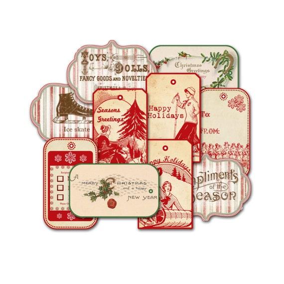 Christmas Tag Assortment Grab Bag Assorted Holiday Tags