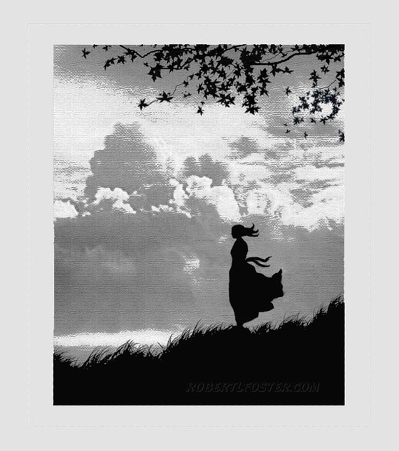 romantic art, romance art, romantic painting, in love, girl in love, lovers art. girl alone, cloud art, sky,