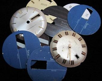 Steampunk Watch Faces Vintage Antique  Dials  Parts Altered Art Industrial DF 30