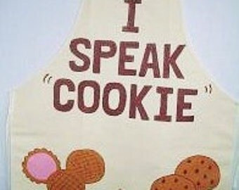 I Speak Cookie Apron - Handpainted