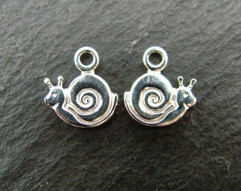 Sterling Silver Snail Charm 9mm (CG6319)