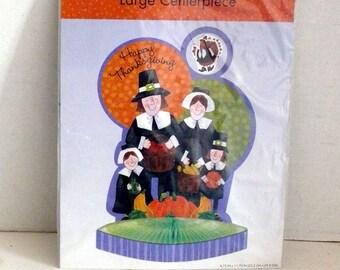 Thanksgiving Honeycomb Centerpiece - Pilgrim Family - Decoration