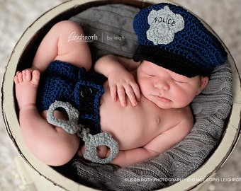 Custom Crochet Little Policeman Set