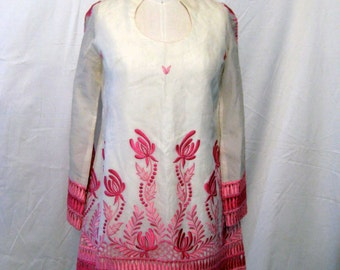 Embroidered Vintage Tunic and Flared Pant Set