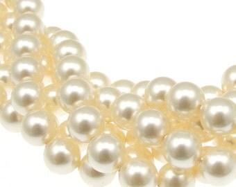 250 CREAM 8mm Swarovski Pearls - Bulk Factory Pack 5810 8mm Pearl Beads - Swarovski Beads Crystal Pearls - Cream Pearls