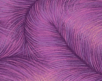 Feather Fuchsia Purple Benartex Fabric 40 inches LAST IN STOCK