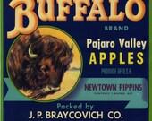 Buffalo Apple Crate Label