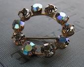 Vintage Starlight crystal rhinestone sparkly brooch