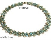TIMINE Miyuki Tila Beadwork Necklace Pdf tutorial instructions for personal use only