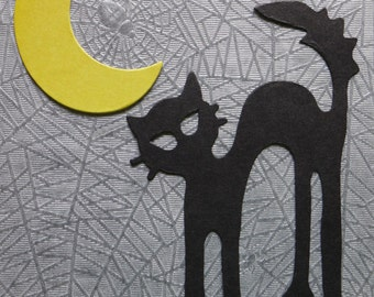Halloween Cat and Moon  Die Cuts