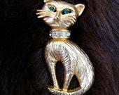 50% off SHOP SALE - Kitten Pin / Kitten Brooch / Cat Brooch
