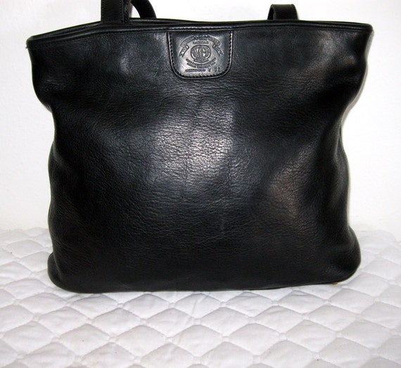 Vintage  Ghurka 167 all butter soft thick genuine leather m size dual strap tote satchel bag purse