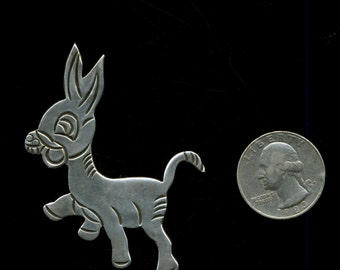 SALE Vintage Sterling Mexican Burro Pin
