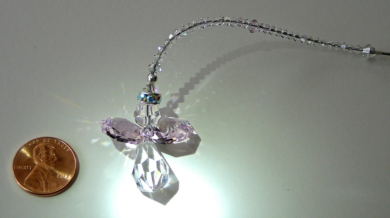 Swarovski Crystal Guardian Angel Car Charm By