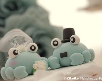 crabs wedding cake topper---k626