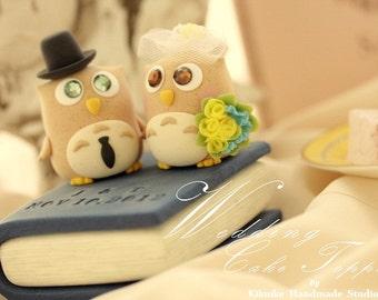 Owls Wedding Cake Topper---k537