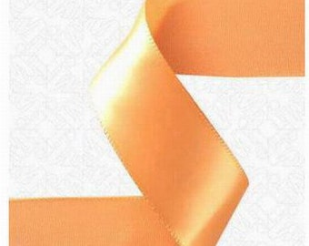 1/4 inch x 100 yds Single Face Satin Ribbon --PEACH