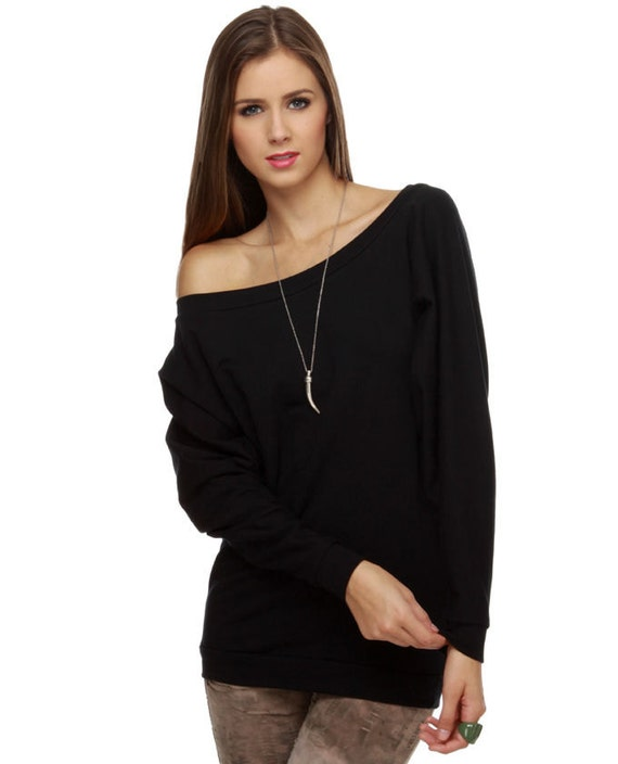 Sweater Off Shoulder Sweatshirt Oversized Dolman Sweater off