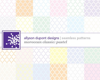 Moroccan Classic Digital Pattern Pack (Illustrator CS5/CS5.5) - Pastels