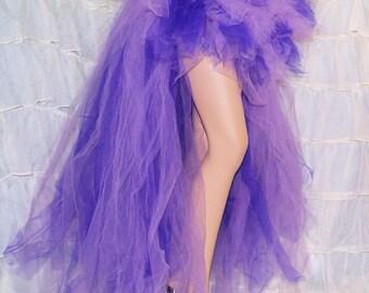 Purple Lavender High Low Couture Formal Bustle TuTu Adult All Sizes MTCoffinz