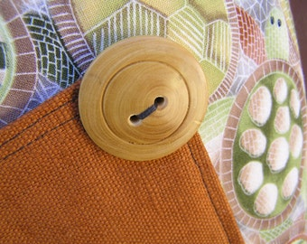 Tote Bag Aboriginal Turtle Fabric (529)