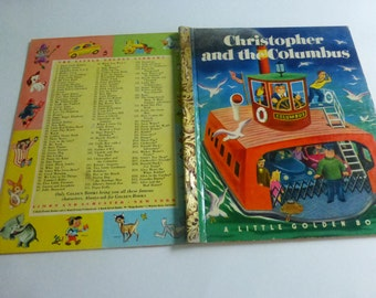 Vintage Little Golden Book Christopher and the Columbus by Kathryn and Byron Jackson  Pictures by Tibor Gergely
