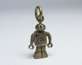 steampunk robot TINY Nanobot in Bronze