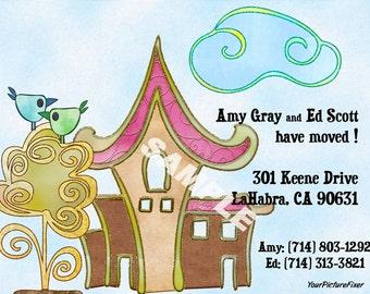 Change of Address postcards - Bird House