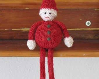 Father Christmas Santa Gnome, Elf Knitting Pattern, PDF, Digital Download