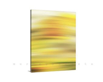 Abstract Art, Yellow Art, Modern Art, Canvas Print, Wall Art, Saffron, Large Art, Vertical Art, Contemporary Art, Canvas Wrap