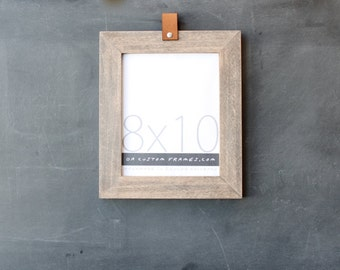 8x10 leather collection picture frame (natural sail rope finish) . 8x10 handmade picture frame