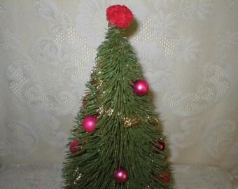 """Large 18"""" Bottle Brush Christmas Tree Vintage"""