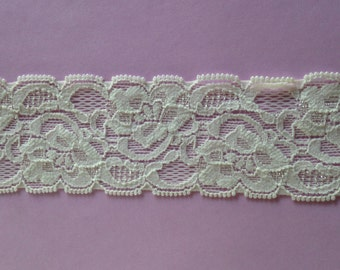New-OFF WHITEStretch Lace-1 3/4 inch -5 yards
