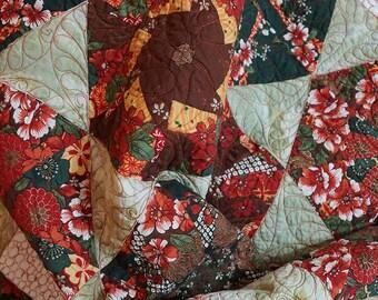 Quilt Modern Patchwork Star Kaleidoscope Block Free Shipping