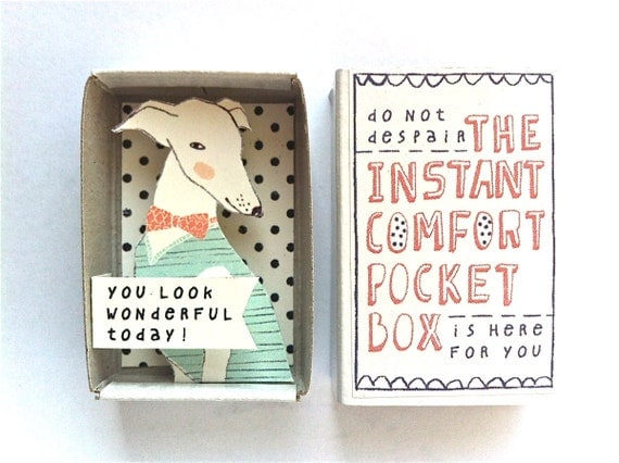 The Instant Comfort Pocket Box - a wonderful dog