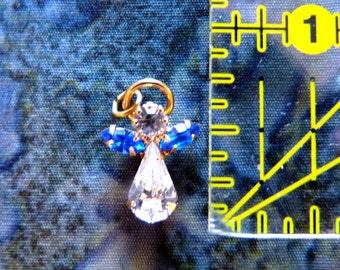 Birthstone Angel Charm