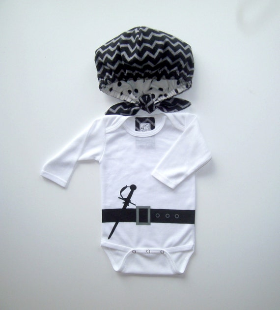 LAST ONE!!!!!! Ahoy! Baby Pirate Costume - Includes Reversible Scarf Hat and Bodysuit - Etsy halloween, kid's costumes, baby pirate costume!