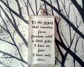 Gypsy by Fleetwood Mac Stevie Nicks Song Lyric Pendant Necklace Key Chain