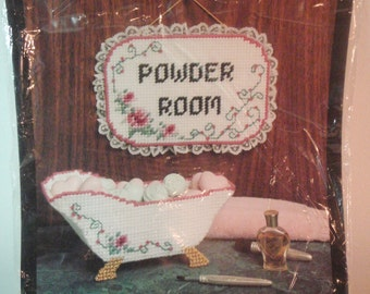 Bucilla Plastic Canvas Kit Powder Room