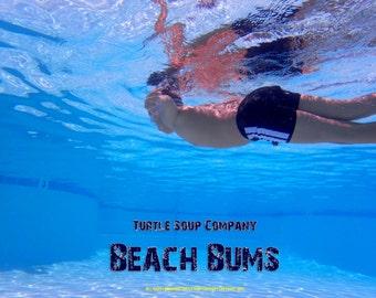 "Beach Bums  ""Bond""  Euro style  swim bathing trunks"