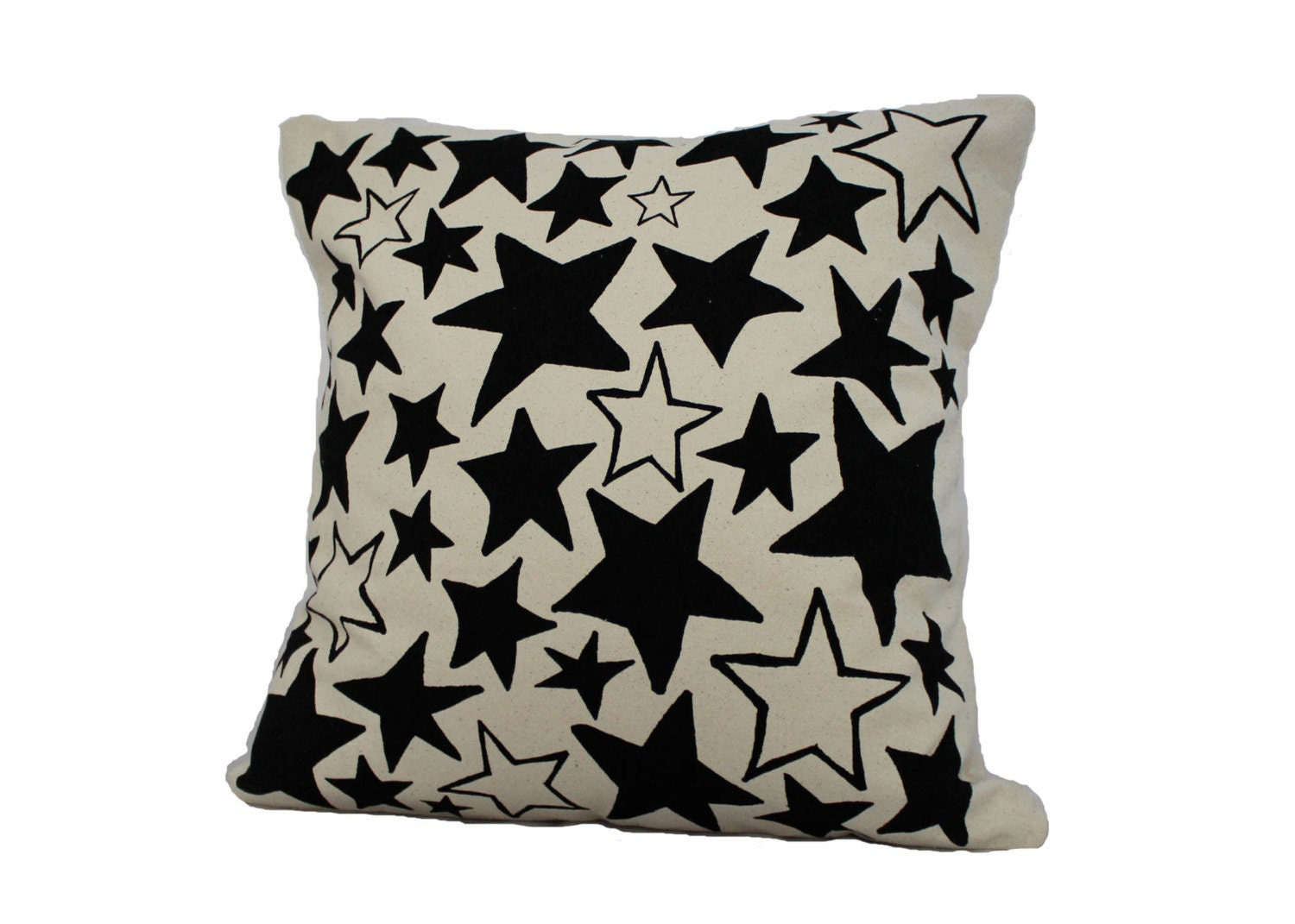 Star Bright Pillow Screen Print On Cotton Canvas Pillow
