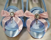 Marie Antoinette Extra Ruffle Blue Pumps