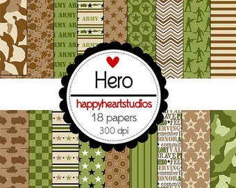 Digital Scrapbook Hero-INSTANT DOWNLOAD