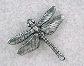 20% OFF COUPON SALE~Green Girl Studios Pewter Dragonfly Pendant