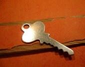 Blank Key Pendant from Trinity Brass in Antique Silver