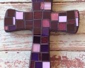Mosaic Cross - Small Purple