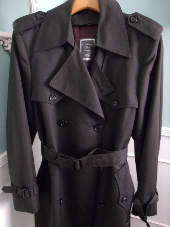 Men S Black Overcoat Christian Dior Monsieur By